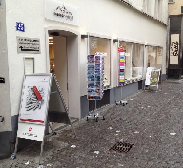 Messer Scharf Shopping Zurich