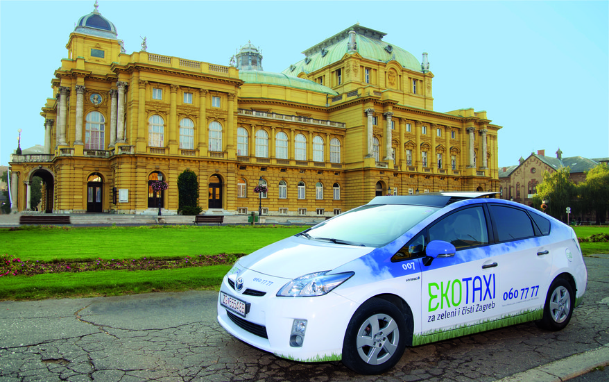 Eko Taxi Getting Around Zagreb