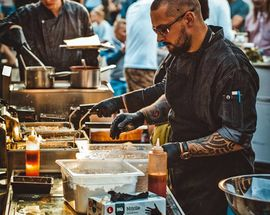 Street - 2m - Food Festival at the Kalnciems Quarter