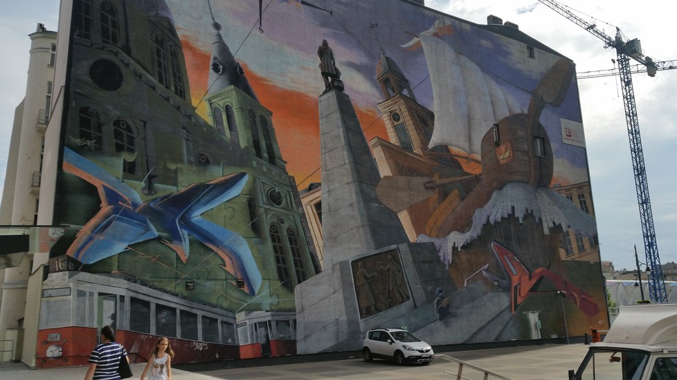 City Of Lodz Mural Street Art Lodz