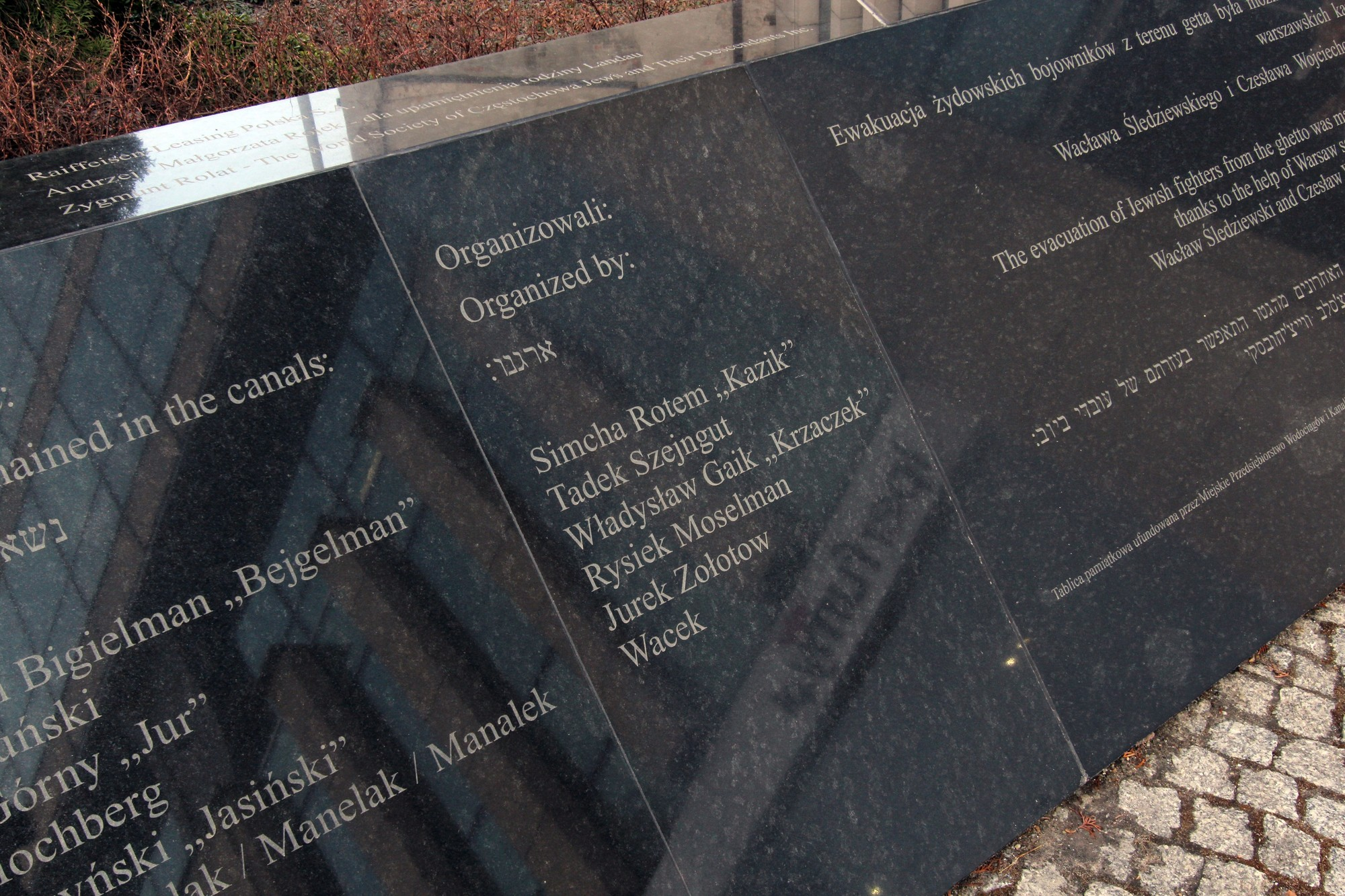Memorial to the Evacuation of Warsaw Ghetto Fighters | Sightseeing