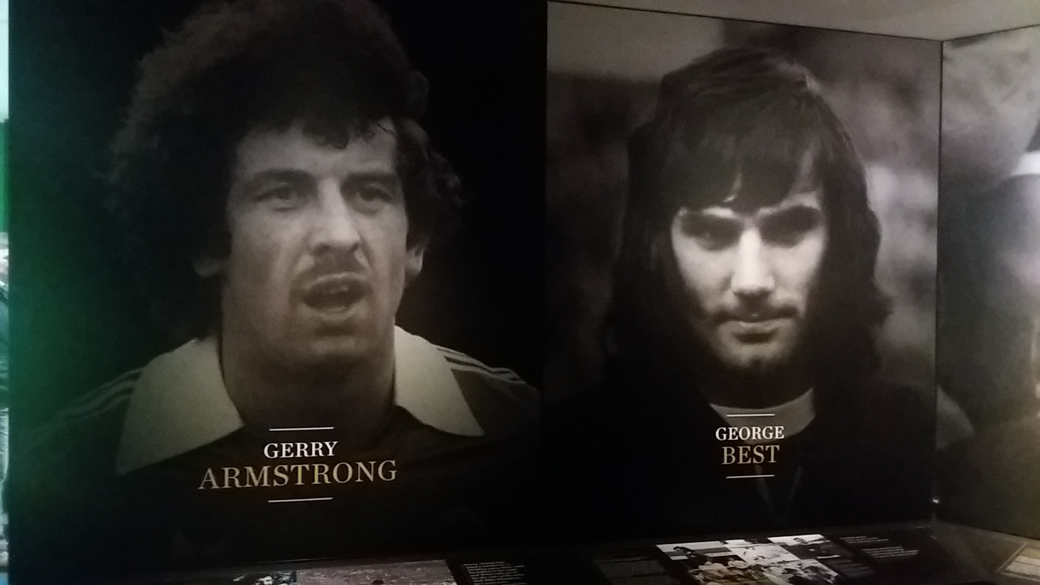 Gerry Armstrong And George Best In The Hall Of Fame