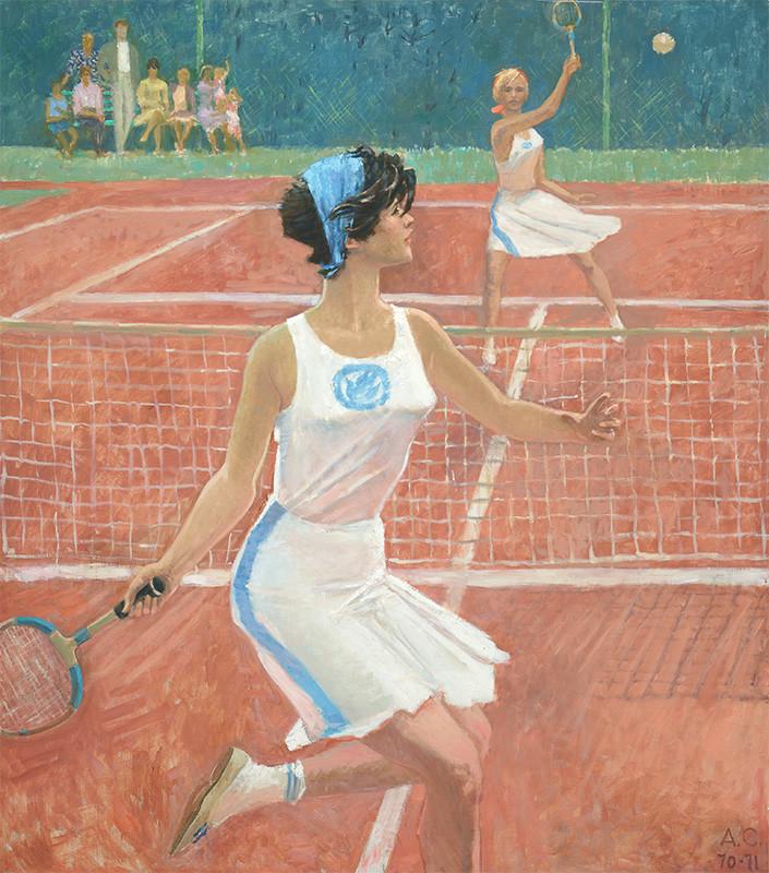 Теннисистки. А. Самохвалов 1971 год