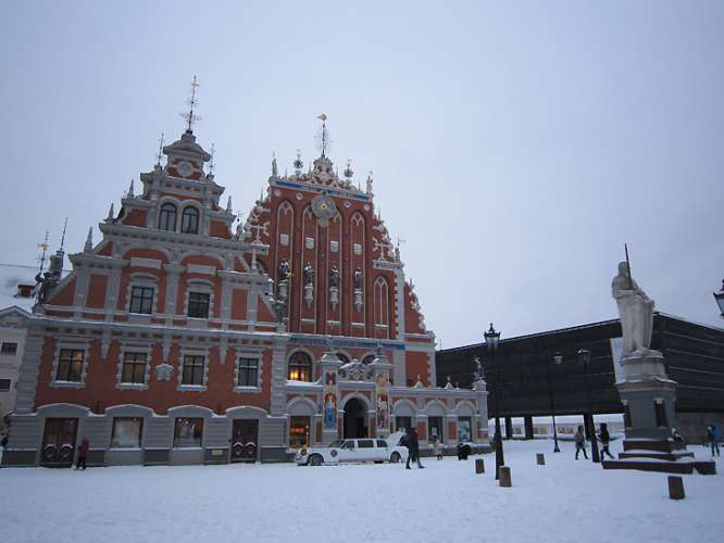Image result for riga house of blackheads in winter