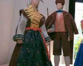 Clay sculptures - former clothes of Slovenes and other European nations