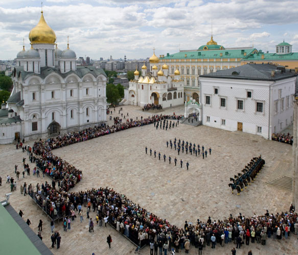 The сeremonial parade of Horse Guard and Foot Guard of the