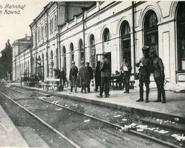 Kaunas Train Station Historical Photographs