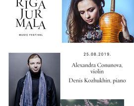 Riga Jūrmala Festival. Alexandra Conunova & Denis Kozhukhin