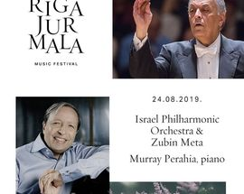 Riga Jūrmala Festival. Israel Philharmonic Orchestra & Murray Perahia
