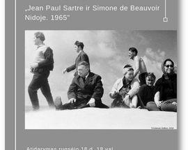 Jean Paul Sartre and Simone de Beauvoir in Nida. 1965. Exhibition by Antanas Sutkus