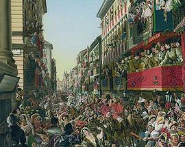 Александр Мясоедов. Карнавал в Риме