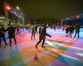 The Christmas Ice Skating Rink