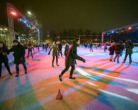 The Christmas Ice Skating Rink