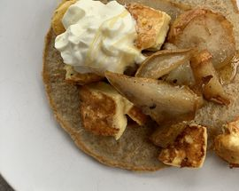 What to cook - Rolled oat hotcakes and cinnamon roasted pears by Brik Cafe