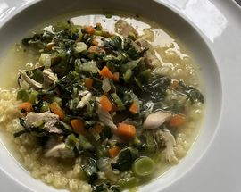 What to Cook – chicken, vegetable, lemon and pasta soup by Service Station