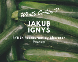 What's Cookin'? @ RYNEK Restaurant by Sheraton | Zucchini cake with asparagus and broad beans from Jakub Ignyś
