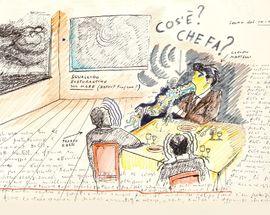 Food on the drawings of Federico Fellini