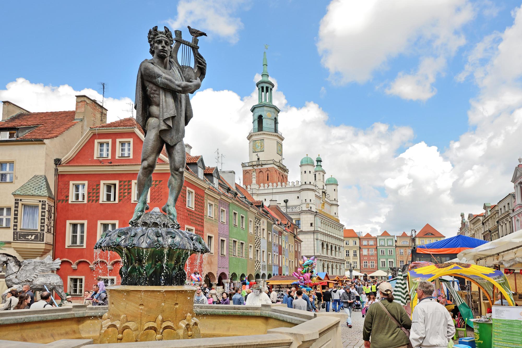 Poznan Market Square, Greater Poland (Wielkopolska) Photo by Tomasz Warszewski/AdobeStock