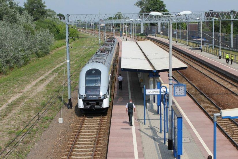 Modlin Train Station Arrival Warsaw