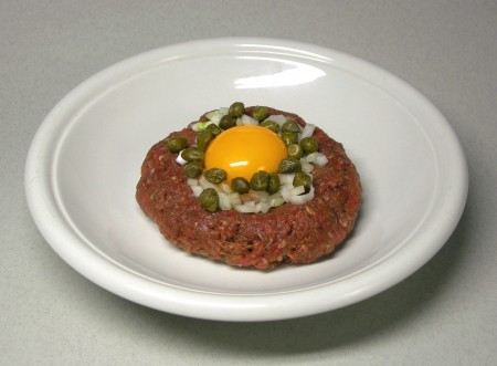 The raw truth/ steak tartare
