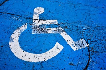 Disabled traveller