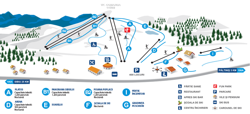 Arena Platos Piste Map