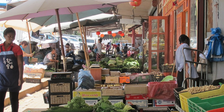 A market on Derrick Avenue in Cyrildene, Johannesburg's 'new' Chinatown