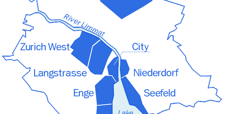 Including printable gay maps for Zurich City Center and Old