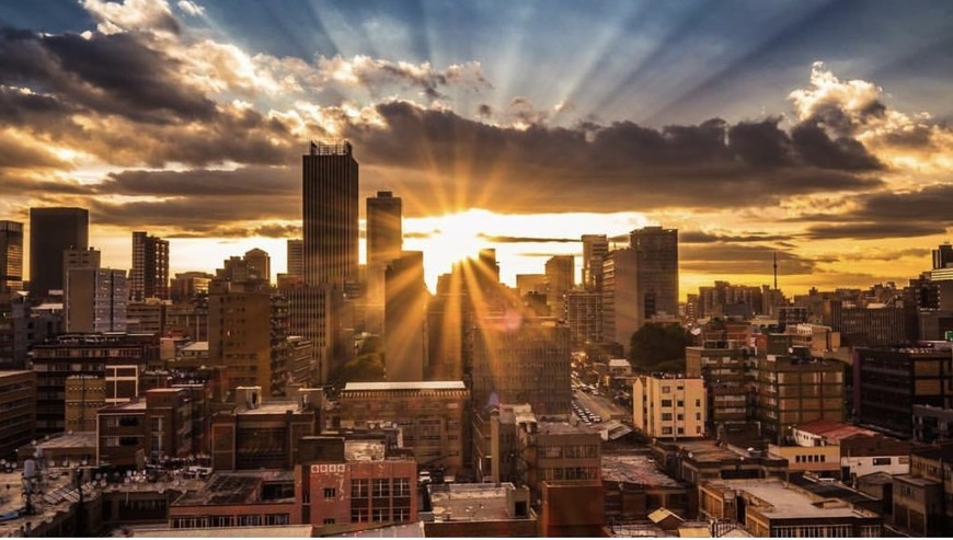 Sunset over the downtown Joburg skyline