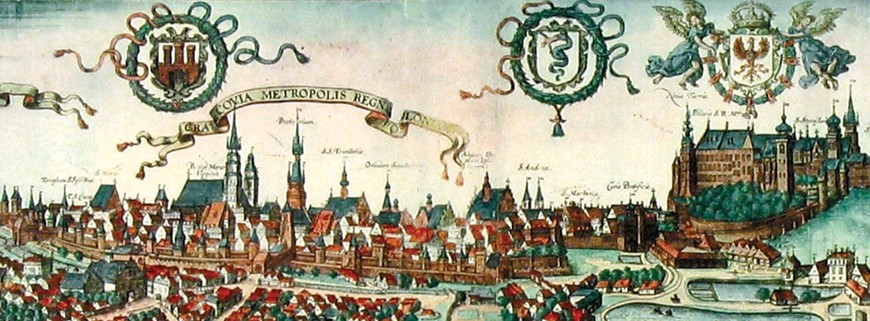 View of Kraków and Wawel at the end of the 16th century