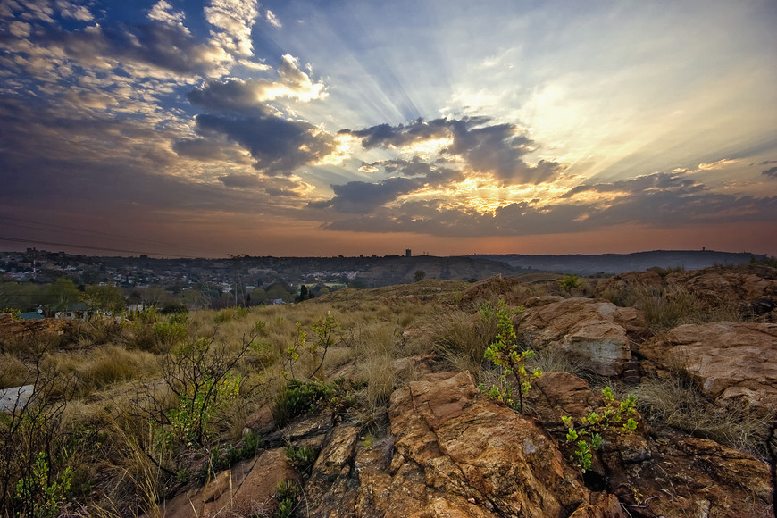 Sunset on the Melville Koppies. Photo by Sudhir Misra
