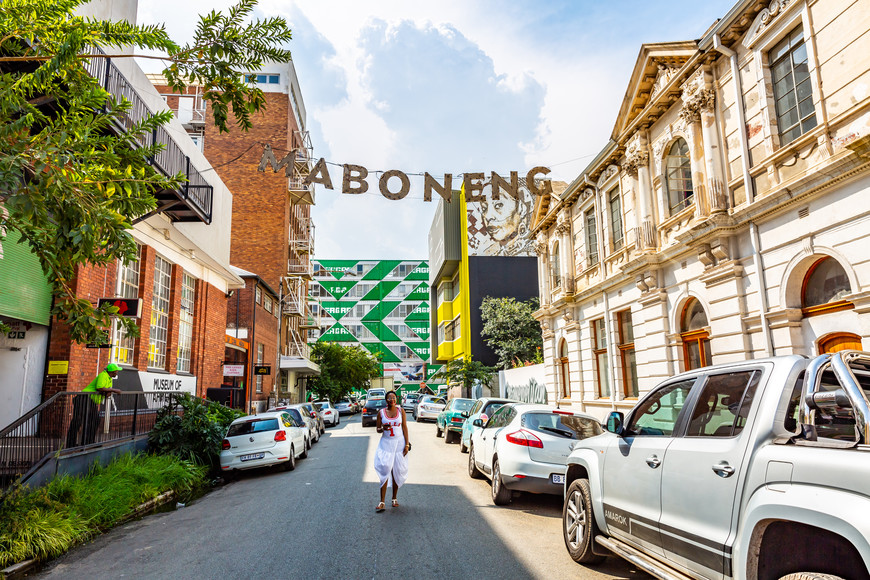 Maboneng's iconic street signs