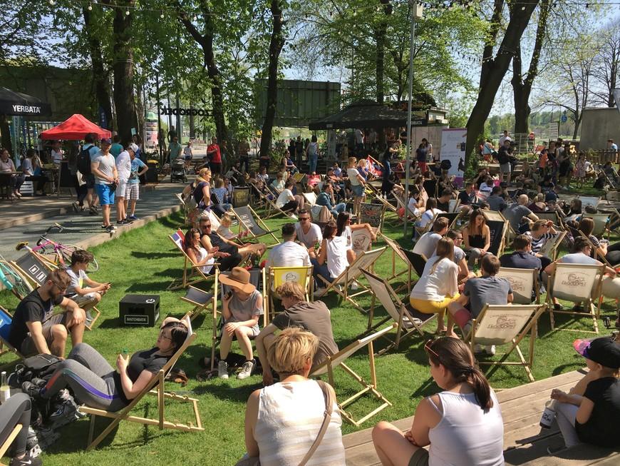 Bezogródek Food Truck Park...or just a giant beer garden?