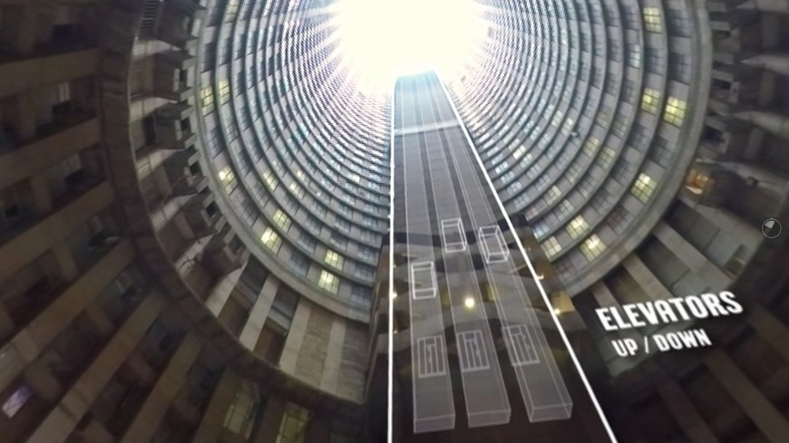 Inside the Ponte tower block on the Dlala Nje virtual tour