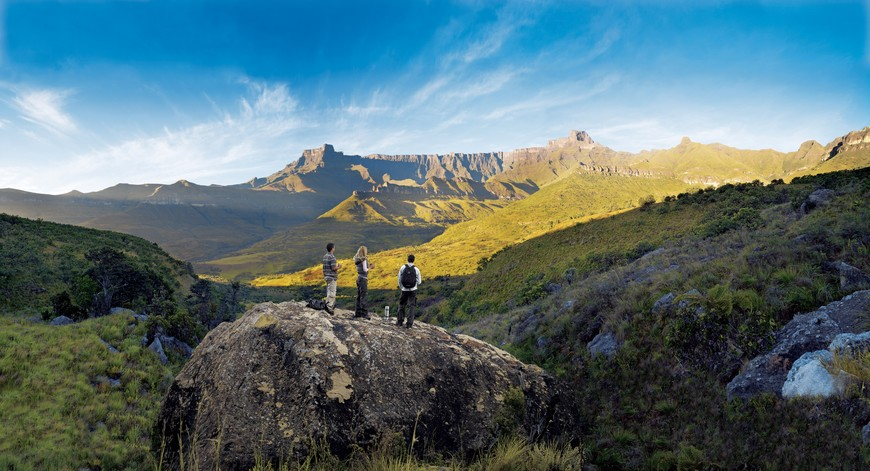 Looking out towards the Ampitheatre, Drakensberg Mountains