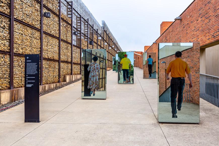 Entrance to the Apartheid Museum, Johannesburg