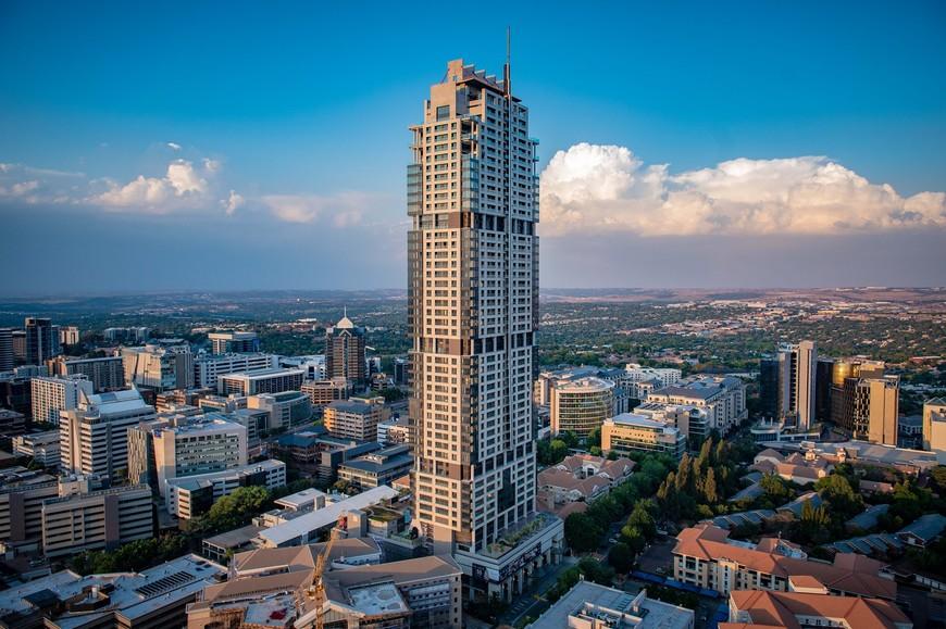 The 234-metre tall The Leonardo in Sandton Central, Johannesburg