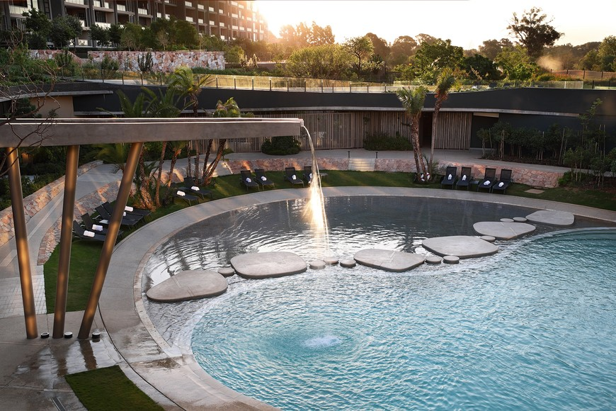 One of the swimming pools at The Houghton Hotel