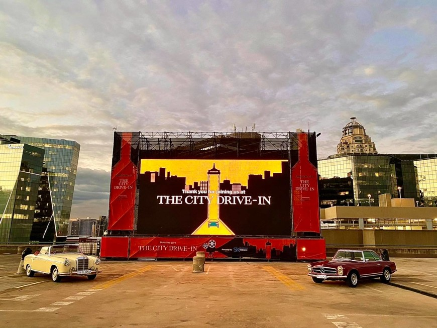 The City Drive-In on the Sandton City rooftop