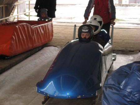 Bobsleighing in Sigulda