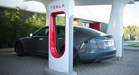 Tesla Supercharger in Ljubljana