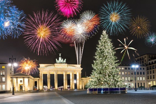 Berlin, no Christmas markets and no New Years Eve party and the Brandenburger Gate
