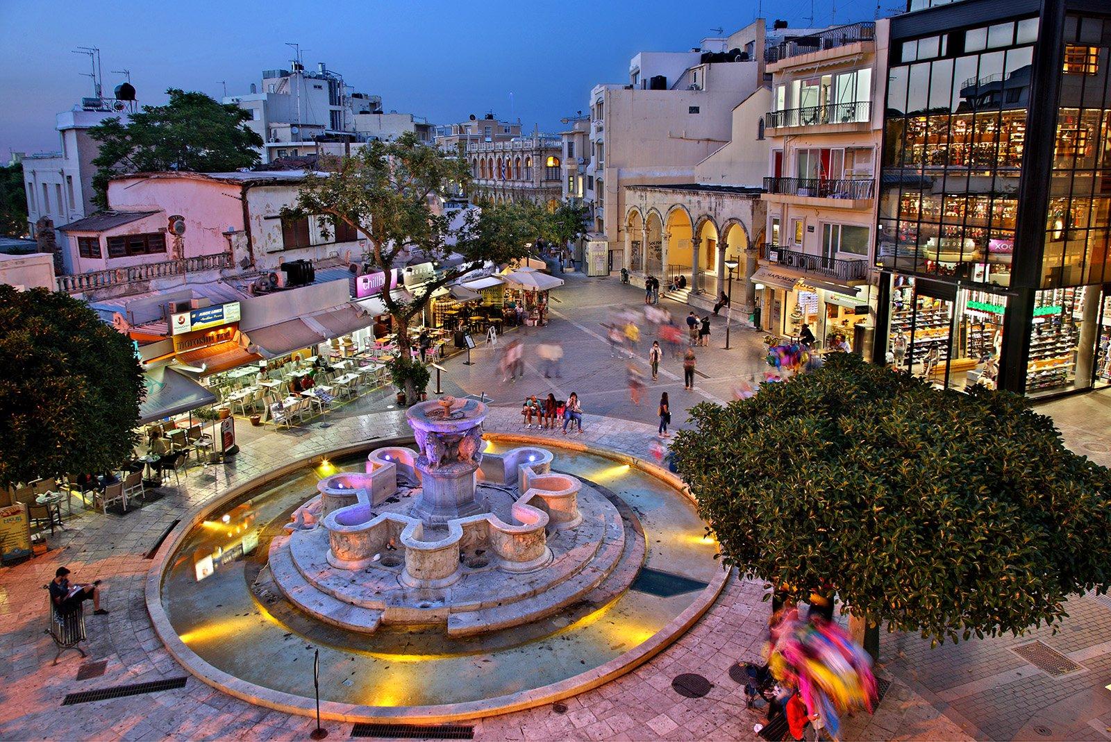Top Attractions on Crete, Greece - Heraklion Old Town © Heracles Kritikos, Shutterstock