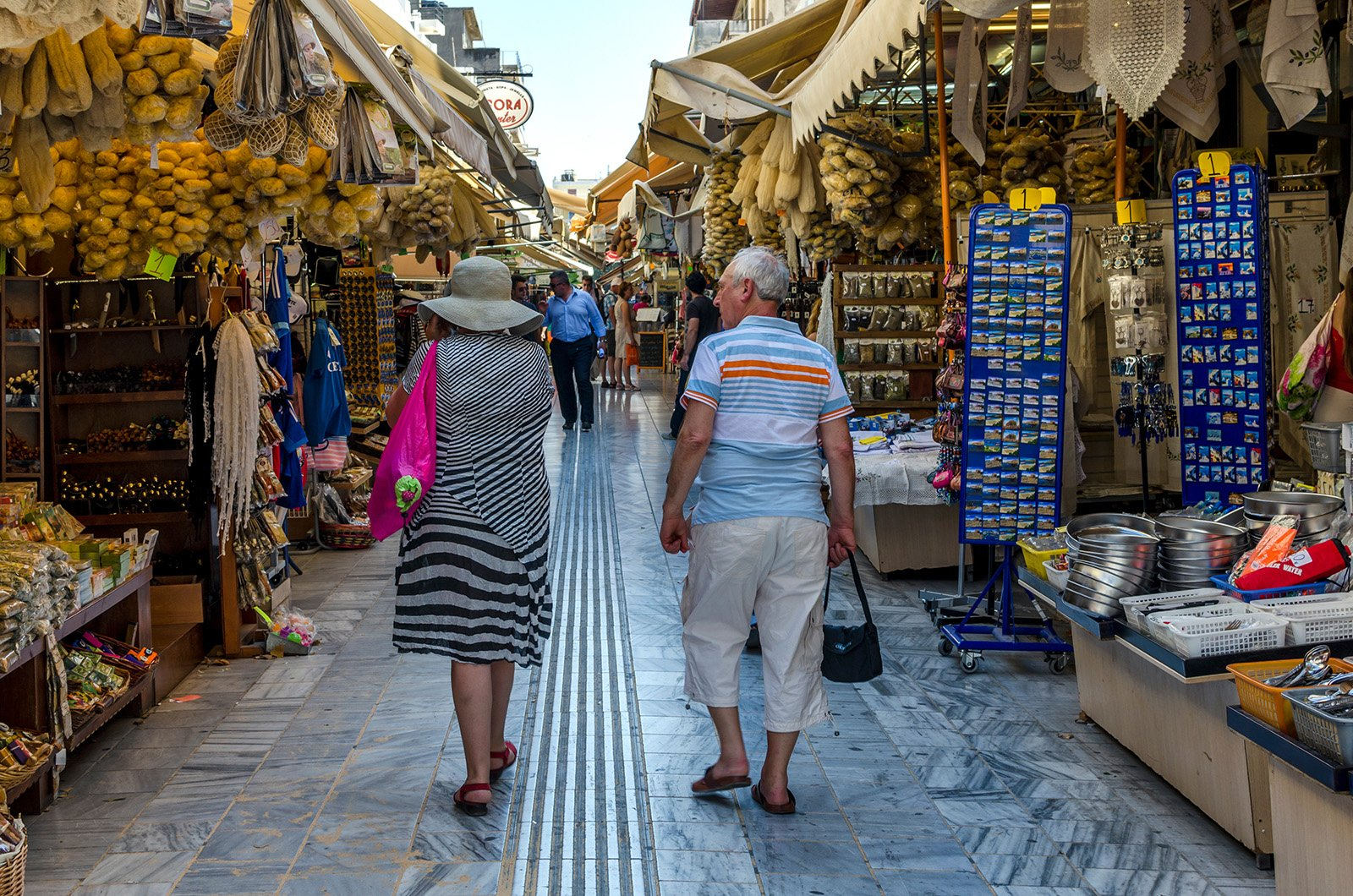 Top Attractions on Crete, Greece - Heraklion Old Town Market © Isidoros Andronos, Shutterstock