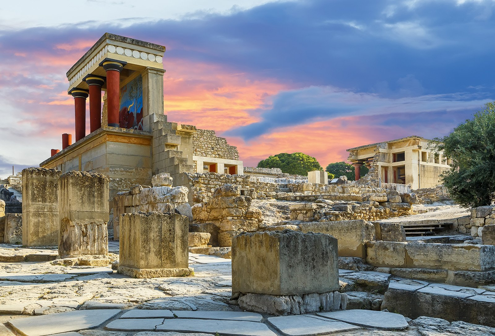 Top Attractions on Crete, Greece - Palace of Knossos © Timofeev Vladimir, Shutterstock