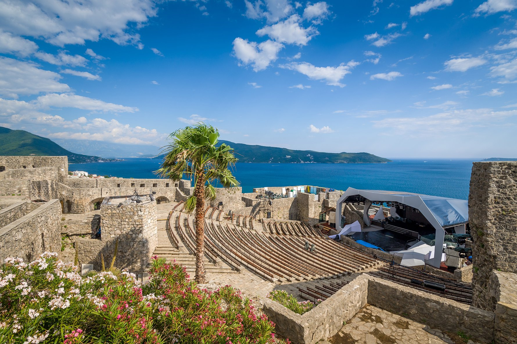 Herceg Novi's Kanli Kula Fortress is now an open air theatre with unrivalled views of the Mediterranean