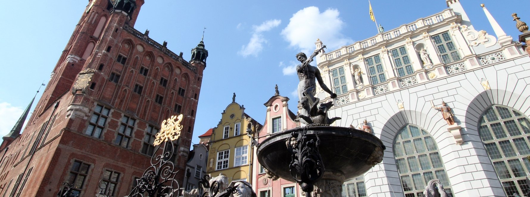 Neptune Fountain on Długi Targ in Gdańsk Old Town