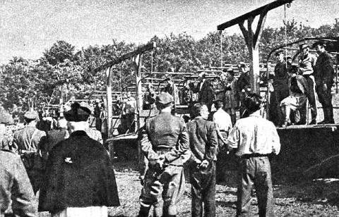 Execution of Stuthoff Guards in 1946