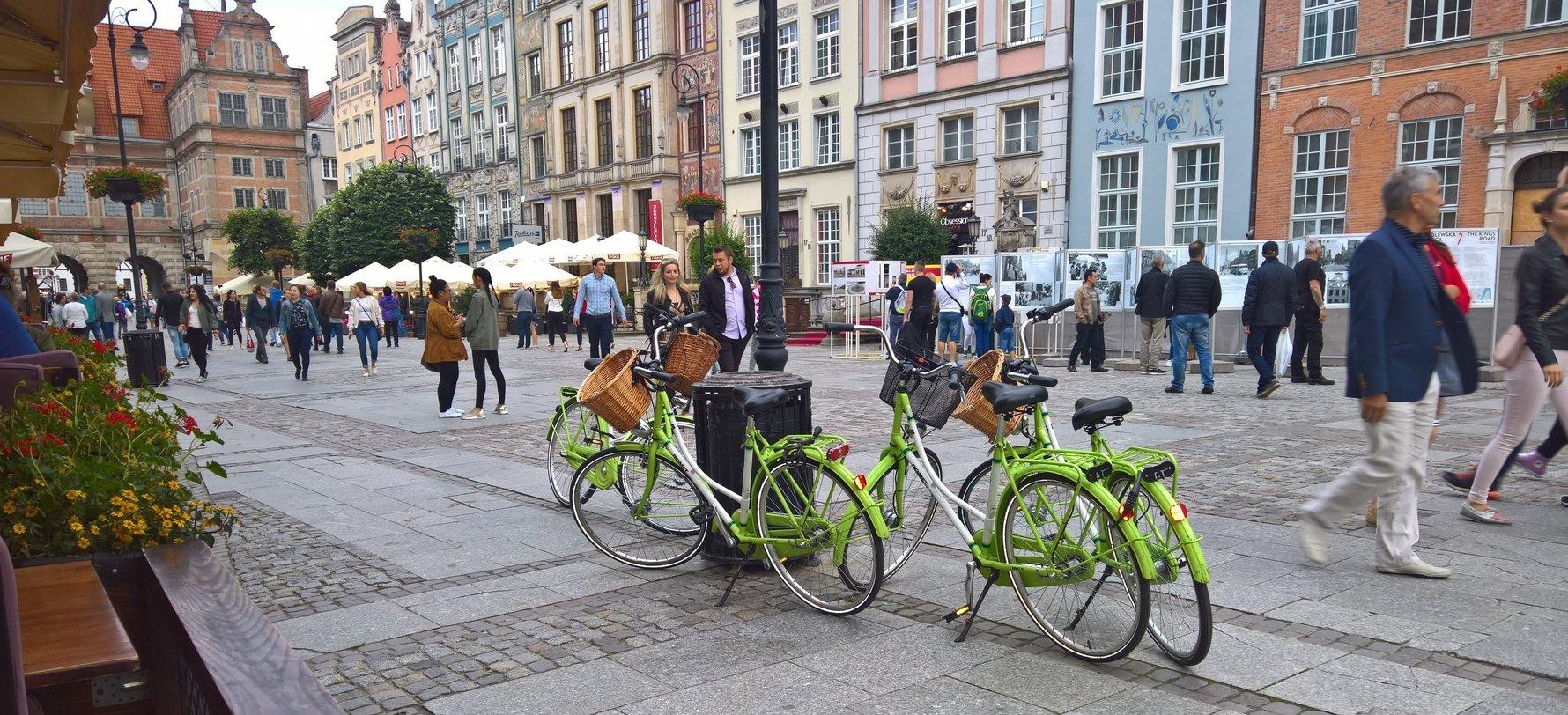 Gdańsk Rental Bikes on ul. Długi Targ
