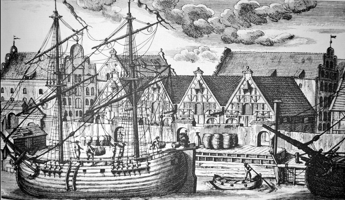 Wyspa Spichrzów w Gdańsku - Drawn by Matthäus Deisch, 1765
